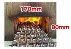 炉の投入口サイズ