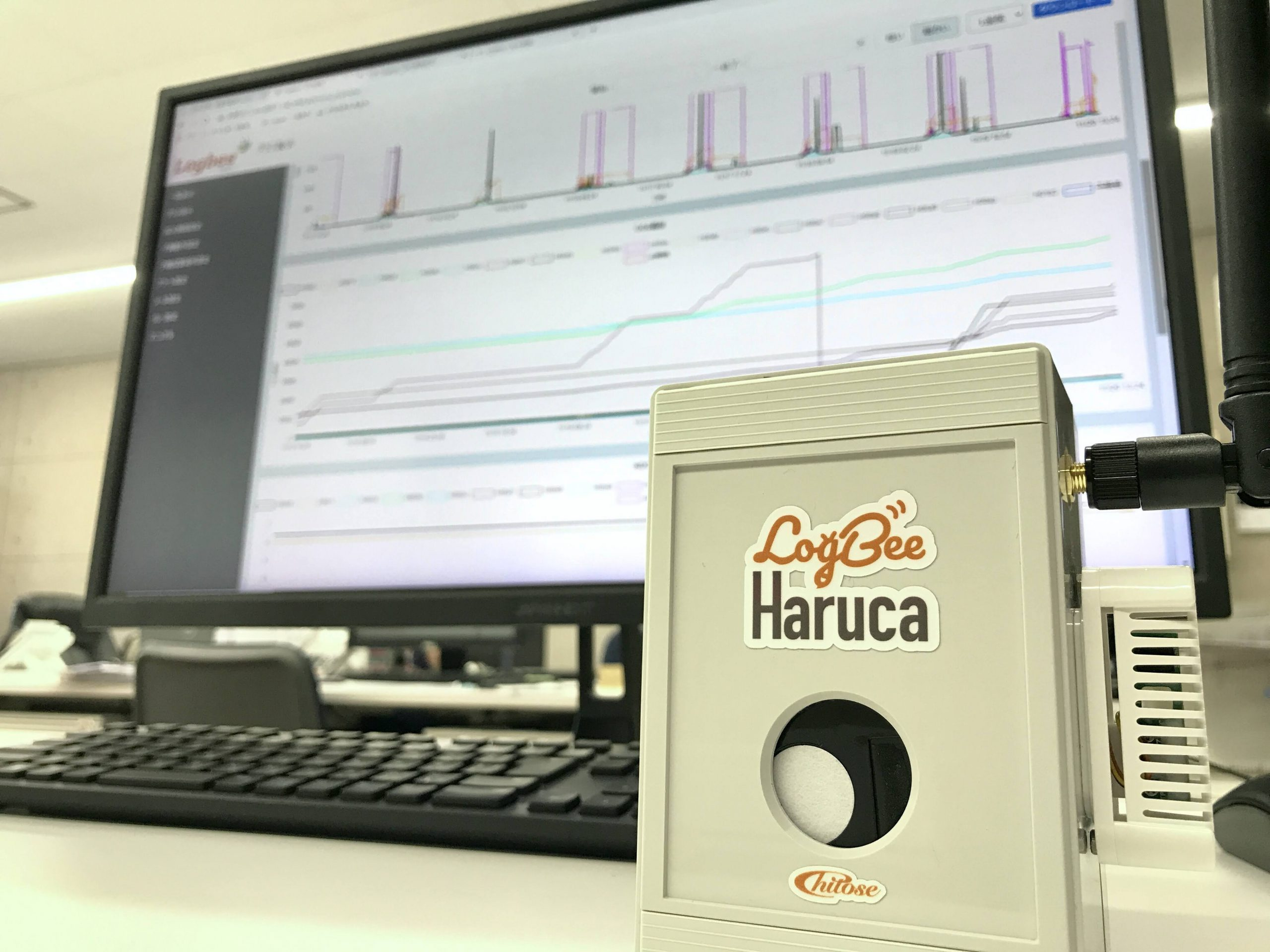 Logbee Haruca CO2で換気の見える化